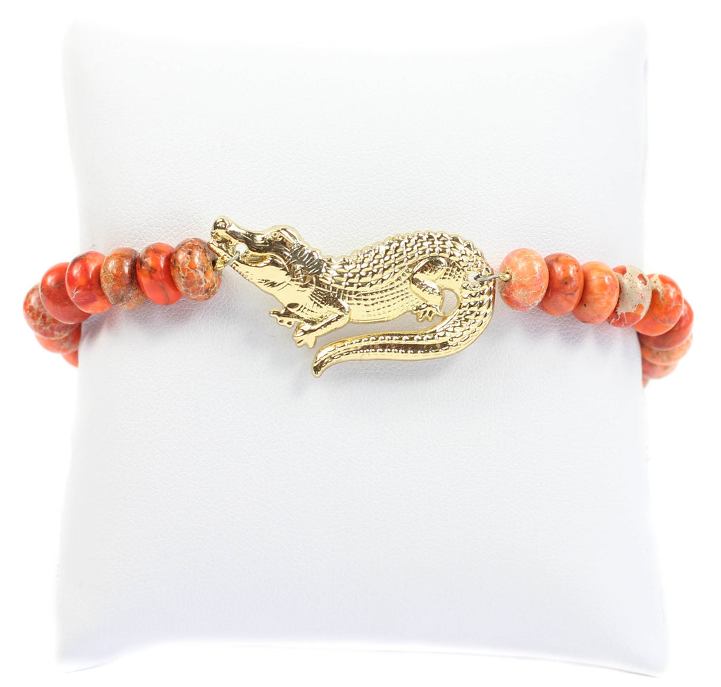 Bourbon and Boweties - The Gator Beaded Bracelet Bracelet Bourbon and Boweties - Bows and Arrows FSU Seminoles and UF Gators Women's Game Day Dresses and Apparel