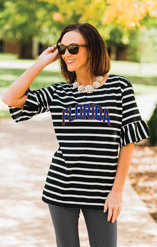 Gators Saved by the Bell Ruffled Sleeve Top