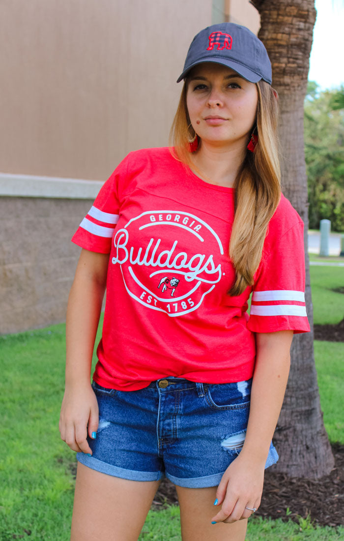 Georgia Bulldogs Just My Stripe Boyfriend Tee (3755023433776)