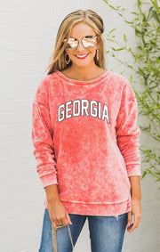 Georgia Now and Zen Vintage Velour Pullover (4119206887472)