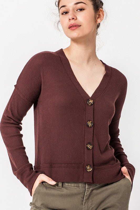 The Carrie Cardi (Dark Burgundy)