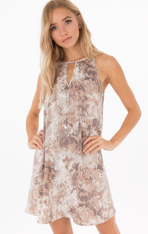 All Over Lace Cami Dress - Spice