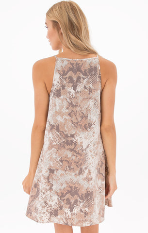 Isabella Dusty Peach Cut-Out Dress