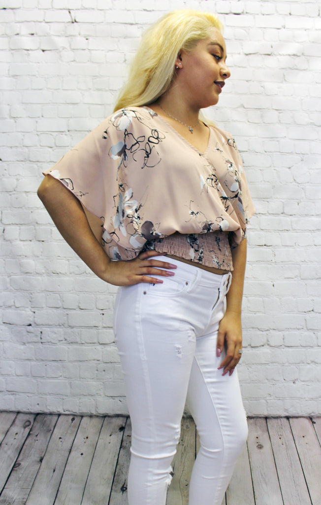 The Beatrix Smocked Floral Blouse