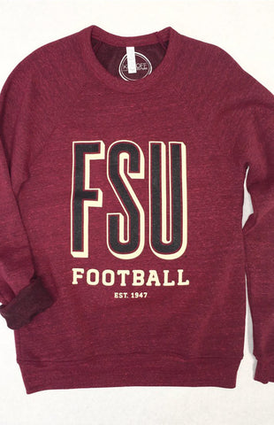FSU Football Garnet Game Day Crew Sweatshirt Kickoff Couture - Bows and Arrows FSU Seminoles and UF Gators Women's Game Day Dresses and Apparel