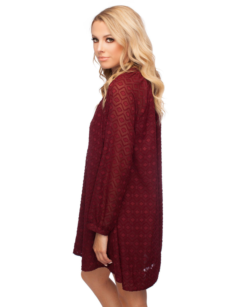 Kylie Maroon Diamond Dress