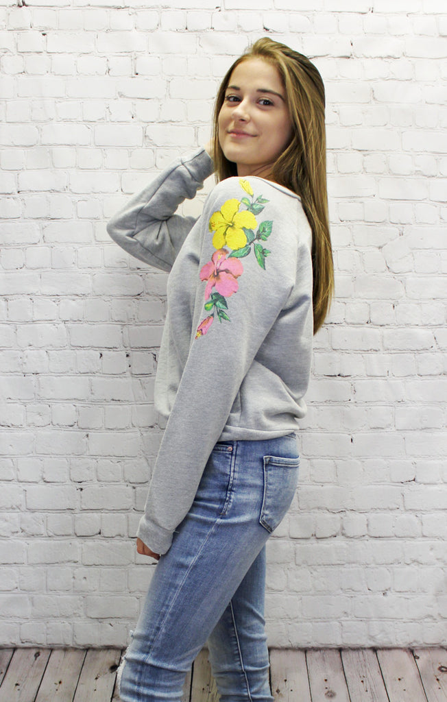 Hibiscus Junior Sweatshirt