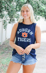 The Lindsay Auburn Tigers Muscle Tank