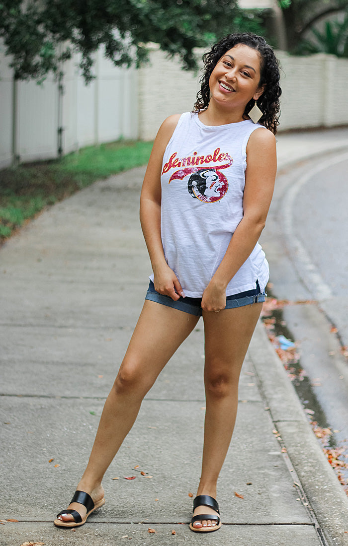 The Lindsay Vintage Seminole Slub Muscle Tank