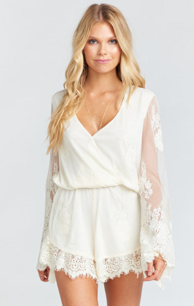 Loretta Romper Garden Party Lace - Cream