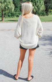 The Lightweight Lounging Sweater (Cream)