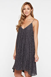 All Over Lace Cami Dress - Grey Dress Love Stitch - Bows and Arrows FSU Seminoles and UF Gators Women's Game Day Dresses and Apparel (9975064769)