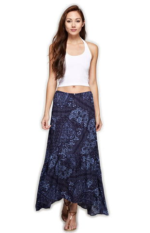 Navy High-Low Ruffle Maxi Skirt Skirt Love Stitch - Bows and Arrows FSU Seminoles and UF Gators Women's Game Day Dresses and Apparel