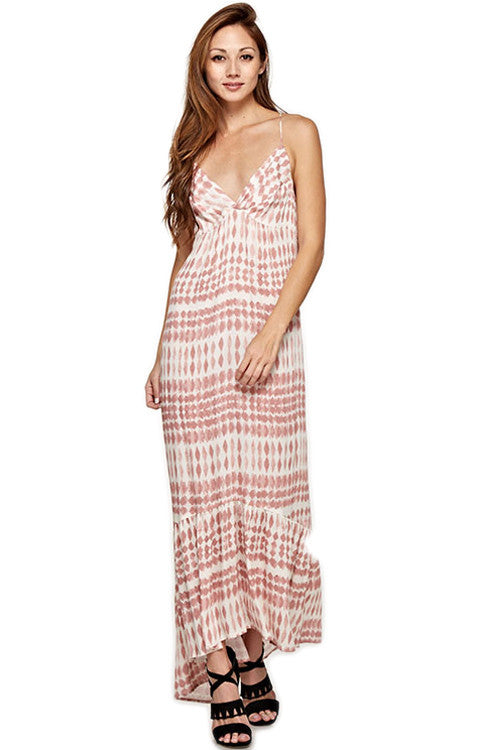 Twisted Front Dust Pink Maxi Dress Maxi Dress Love Stitch - Bows and Arrows FSU Seminoles and UF Gators Women's Game Day Dresses and Apparel