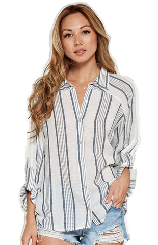 Beachy Boyfriend Button Up