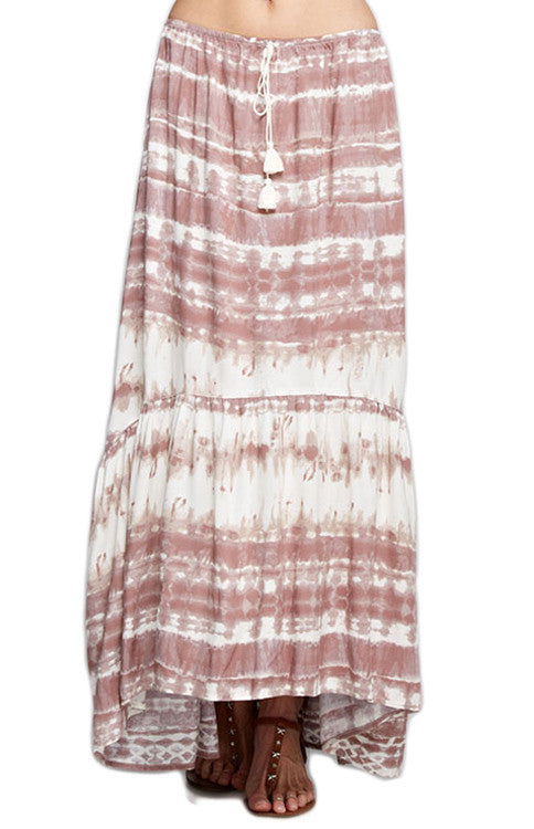 Tie-Dye Dusty Pink Maxi Skirt Skirt Love Stitch - Bows and Arrows FSU Seminoles and UF Gators Women's Game Day Dresses and Apparel