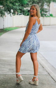 The Belle Isle Blue Romper