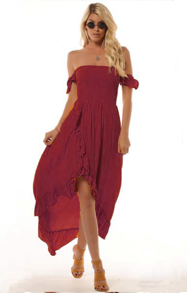 Wild Hearts Dress - Cranberry