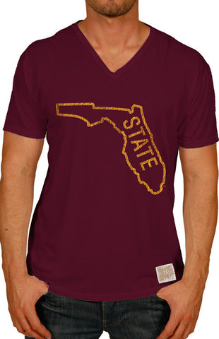 "Men's Short Sleeve Classic ""State"" Tee Tee Retro Brand - Bows and Arrows FSU Women's Game Day Dresses and Apparel"