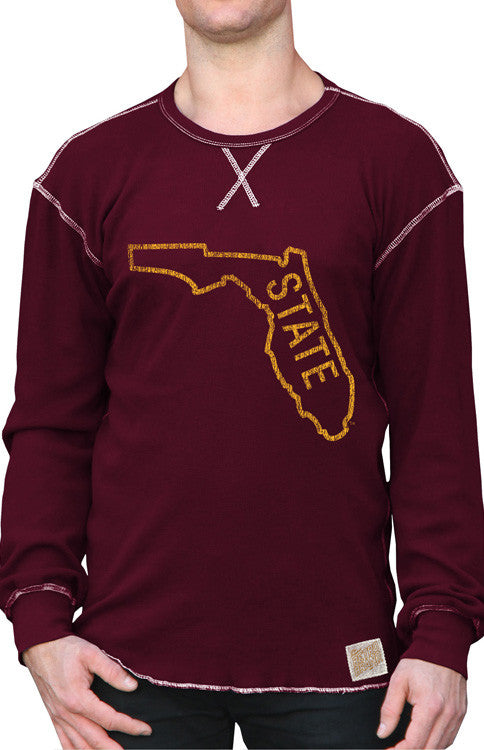 "Men's Long Sleeve Classic ""State"" Thermal Long Sleeve Tee Retro Brand - Bows and Arrows FSU Seminoles and UF Gators Women's Game Day Dresses and Apparel"