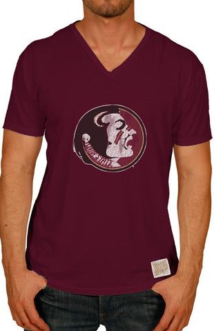 Men's Classic Garnet Seminole Tee Tee Retro Brand - Bows and Arrows FSU Women's Game Day Dresses and Apparel