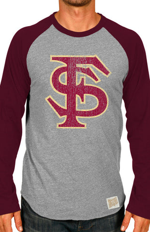Men's Long Sleeve Florida State Baseball Tee Long Sleeve Tee Retro Brand - Bows and Arrows FSU Women's Game Day Dresses and Apparel