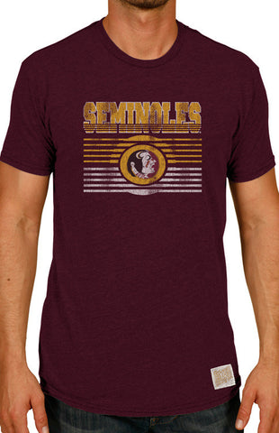 Men's Seminoles Striped Triblend Tee Tee Retro Brand - Bows and Arrows FSU Women's Game Day Dresses and Apparel