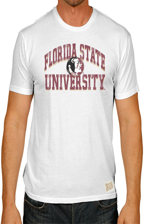 Men's Florida State University White Classic Tee