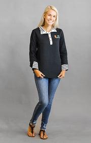 "Miami ""Out of Your League"" Quarter Button Pullover"