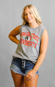 The Miley FSU Mock Twist Muscle Tank