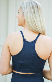 The Mineral Wash Cami Bra (Navy)