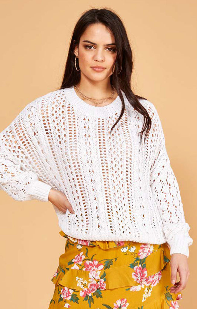 The Kimmy Knit Sweater - Winter White