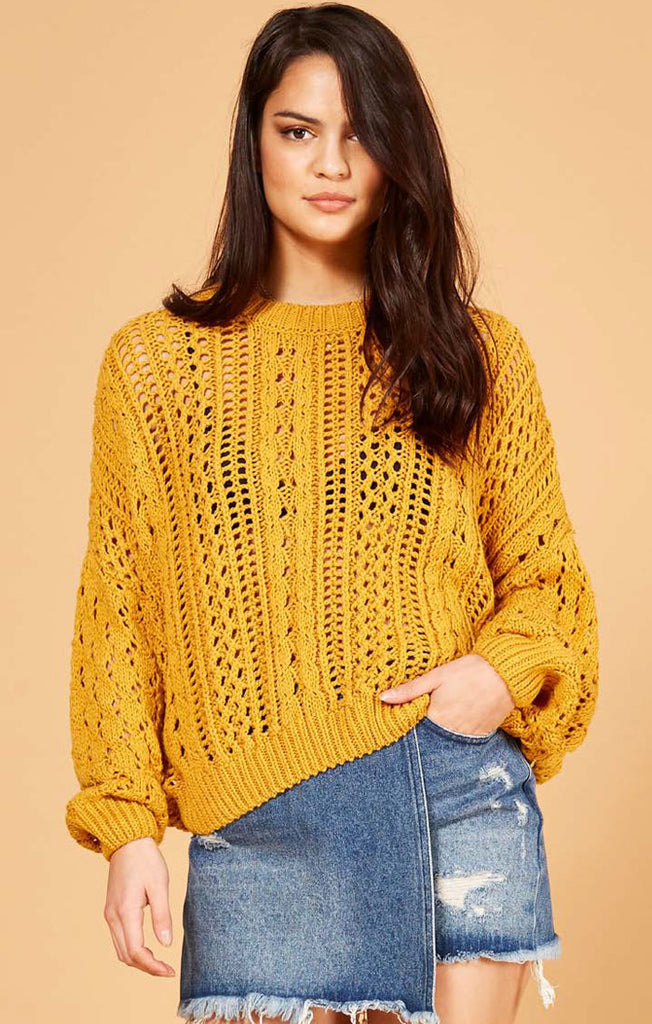 The Kimmy Knit Sweater - Mustard