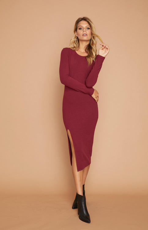 Influence Burgundy Midi Dress