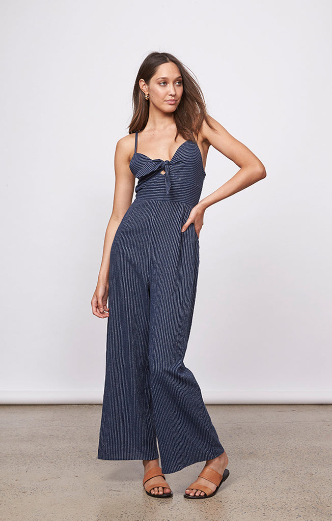 Lovers Navy Stripe Jumpsuit