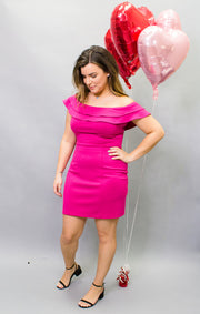 Zali Mini Dress Fushia (3745119797296)