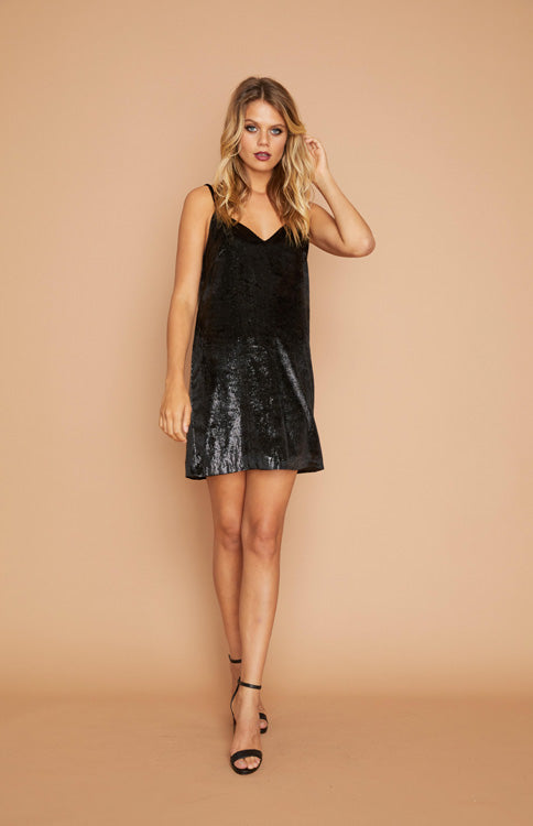 Black Tincel Slip Dress Dress MINKPINK - Bows and Arrows FSU Seminoles and UF Gators Women's Game Day Dresses and Apparel