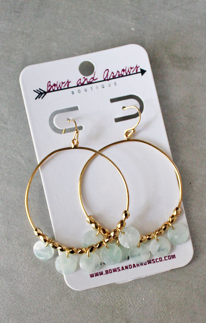 The Mint Acrylic Disk Earrings (4327565787184)