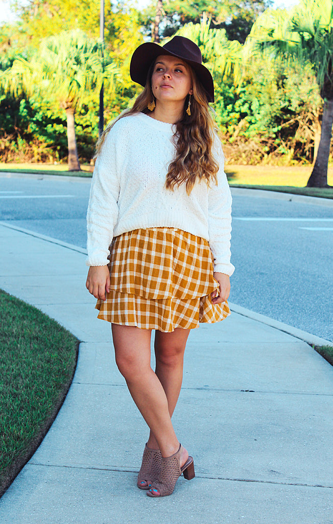 Aiden Skirt Check Me Gold