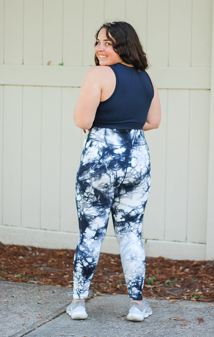 The Tie Dye Seamless Highwaist Legging (Navy)