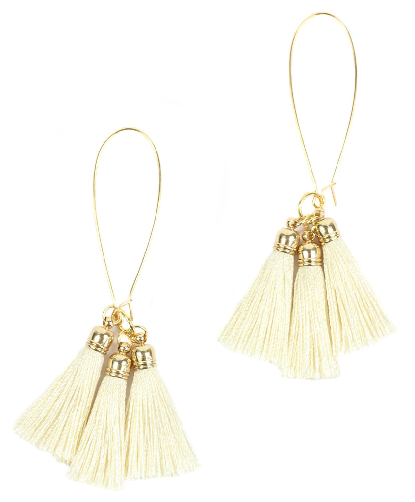 Bourbon and Boweties - Neutral Tassel Earring