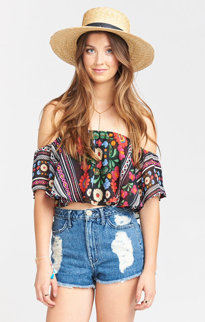 Nica Mexicali Ruffle Top