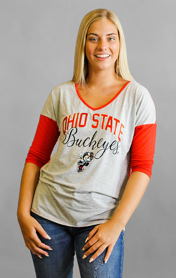 Ohio State Meet Your Match V-Neck Tee
