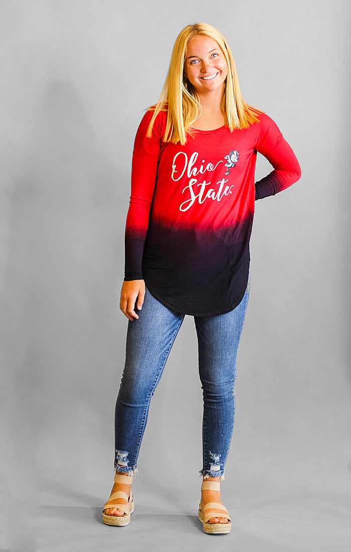 Ohio State Own it in Ombre Tunic