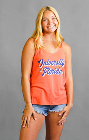 The University of Florida Retro Script Slouchy Tank