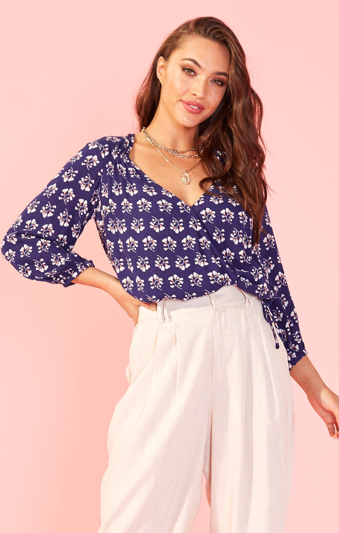 The Perfect Blue Floral Blouse (4439381442608)
