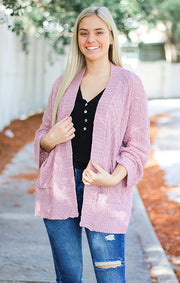 The Cozy Sweater Cardi (Dusty Pink)