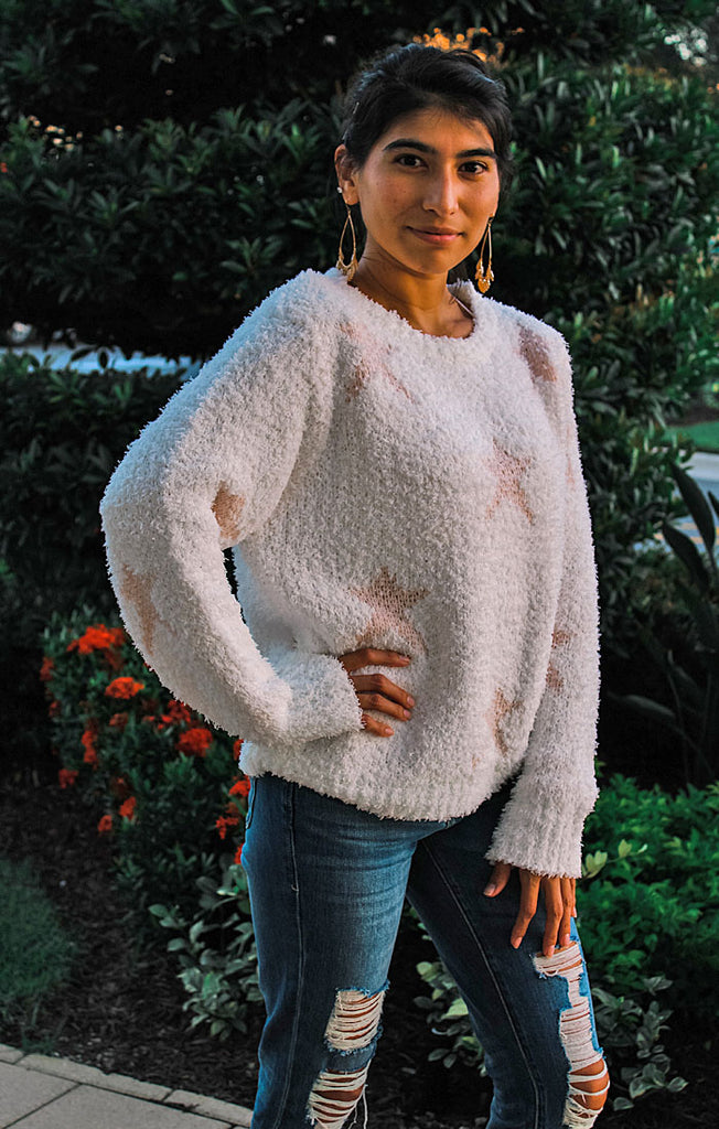 The Star Spangled Cozy Berber Fleece Pullover