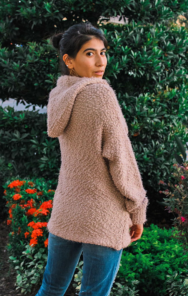 The Mauve Button Sweater Cardi