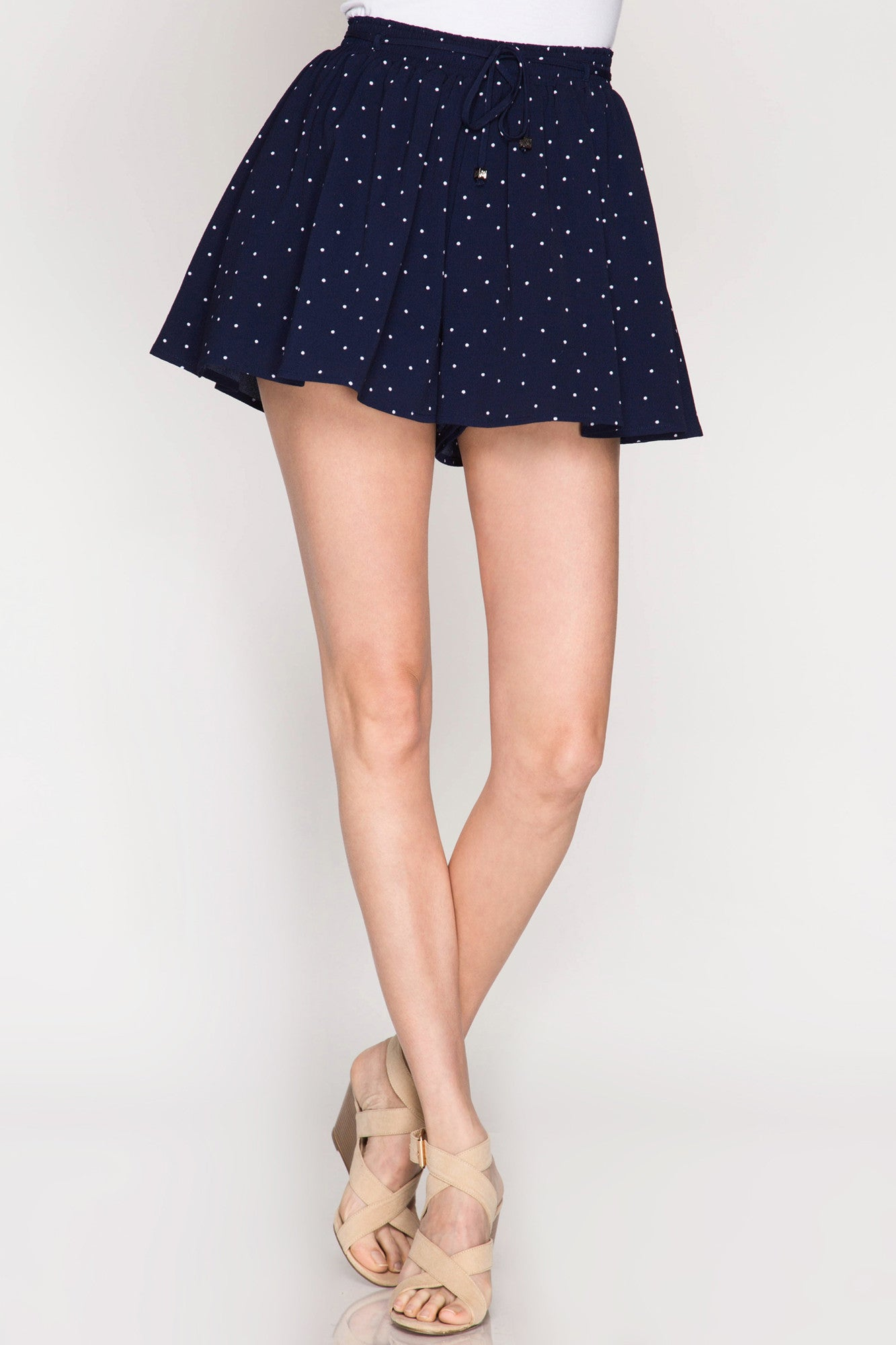 Polka Dot Soft Shorts - Navy Shorts She & Sky - Bows and Arrows FSU Seminoles and UF Gators Women's Game Day Dresses and Apparel